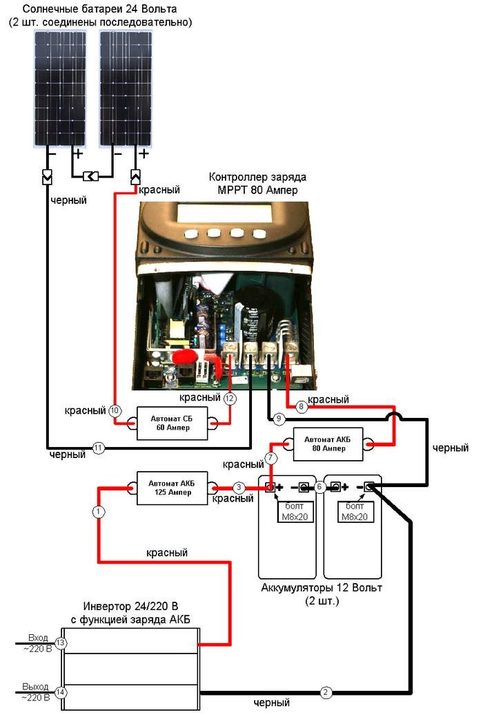 Контроллер заряда солнечной батареи схема подключения